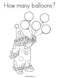 how many balloons coloring page twisty noodle