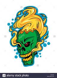 fire skull stock photos u0026 fire skull stock images alamy
