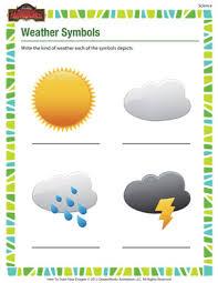 weather symbols u2013 printable science worksheet for 1st grade kids
