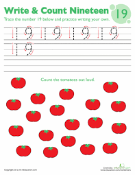 tracing numbers u0026 counting 20 worksheets math and kindergarten