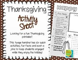 thanksgiving activity sheet by the think tank teachers pay teachers