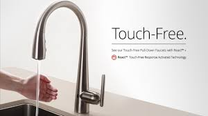 ceramic no touch kitchen faucet centerset single handle side sprayer