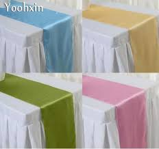 gold table runner and placemats fashion satin table runner cloth cover christmas wedding blue gold