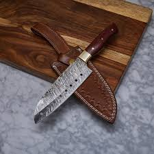 hand made kitchen knives handmade damascus kitchen knife kch 20 evermade traders