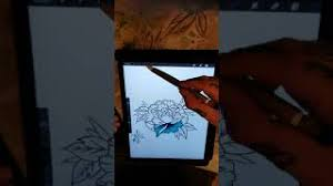 hmongbuy net roses tattoo sketch on ipad pro with procreate app