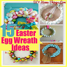 how to make an easter egg wreath 15 awesome easter egg wreath ideas diy home things