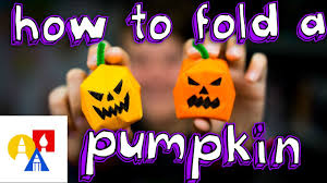 how to make an origami water bomb pumpkin youtube