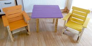 Kids Chairs And Table Pallet Furniture Made By Liverpool Pallet Designs 101 Pallets