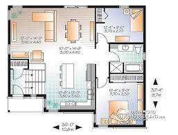 split level floor plans house plan w3323 v3 detail from drummondhouseplans