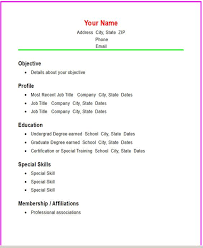 Simple Resume Sample Download by Functional Resume Templates Basic Resume Templates