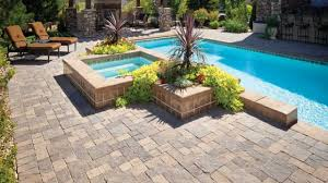 deck stone pavers paver installation around pool deck pool deck