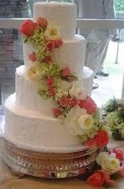 simple sleek u0026 elegant 4 tier white wedding cake with white