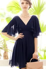 chiffon dress blue ruffle v neck open back chiffon dress casual dresses