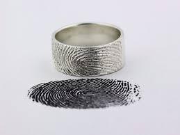 silver wedding band your custom fingerprint ring sterling silver engraving wedding