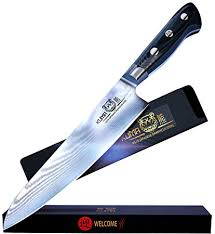 razor sharp kitchen knives amazon com kuma japanese damascus kitchen knife premium