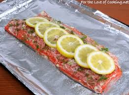 Cook Salmon In Toaster Oven Salmon With Garlic Lemon And Dill For The Love Of Cooking