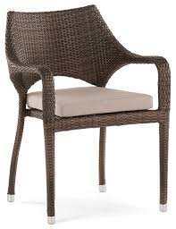 Stackable Outdoor Dining Chairs Sarzana Stackable Outdoor Dining Armchair Tropical Outdoor