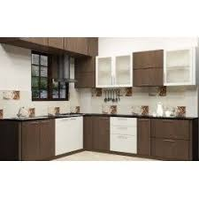 kitchen cabinet design colour combination laminate a modular kitchen with dual color combination made up of