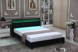 Modern Platform Bed With Lights - modern full size bedroom platform bed designer frame headboard led