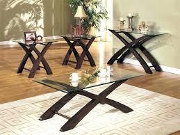 glass end table set espresso coffee table sets luisreguero com