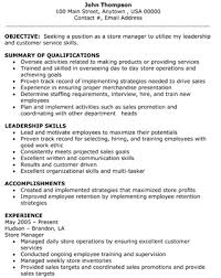 Objective With Summary Of Skills by Retail Store Manager Objective Summary Of Qualifications Writing