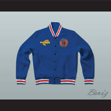 space jam sweater space jam tune squad blue letterman jacket style sweatshirt