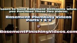 how to frame and plumb a basement bathroom youtube