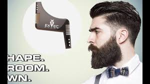 exec beard all in one beard comb and shaping template tool youtube