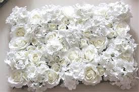 wedding backdrop flower wall 2018 wholesale ivory artificial hydrangea flower wall wedding
