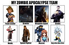 My Zombie Apocalypse Team Meme Creator - image 630835 my zombie apocalypse team know your meme