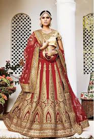Bridal Wear Rajasthani Lenghas For Dulhan Buy Online Red Rajasthani A Line