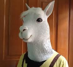 goat head halloween mask amazon com gmasking natural latex alpaca head mask clothing