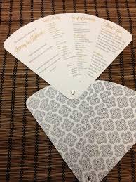 petal fan wedding programs petal fan wedding program fan program by designsbyalisamarie
