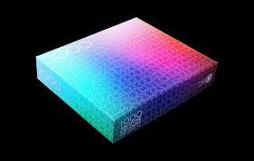color spectrum puzzle 1 000 colors halftone puzzle the colossal shop