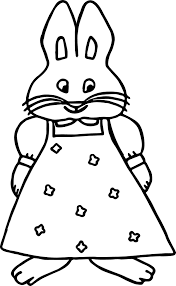 max and ruby coloring page wecoloringpage