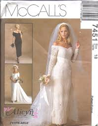 wedding dress sewing patterns 7451 vintage mccalls sewing pattern wedding bridal gown