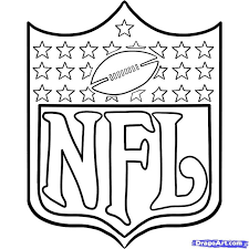 easy color nfl coloring sheets free coloring sheets