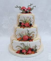where can i get an edible image made autumn theme wedding cake toadstoolsleavesberries are all made fro