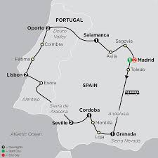 Granada Spain Map by Best Of Spain U0026 Porugal Tours And Travel Packages Cosmos