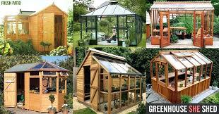Garden Greenhouse Ideas Garden Building Ideas Garage Rustic Detached One Car Garage Idea