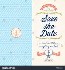 Nautical Save The Date Save Date Wedding Nautical Invitation Card Stock Vector 157349153