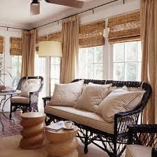 Sun Porch Windows Designs Ideas For Multiple Windows Bamboo Blinds Drapery Panels And Porch