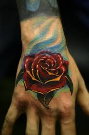 rose tattoo hand man danielhuscroft com