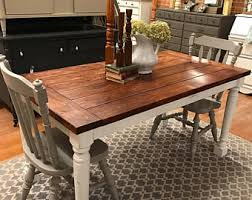 Farmhouse Table Etsy - Farm dining room tables