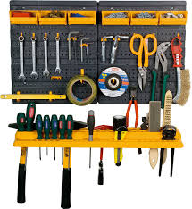 diy tool panel garage rack wall kit mini storage organizer home