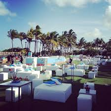 Event Decor Rental Outdoor Lounge Set Up At The Fontainebleau Hotel Ronen Rental