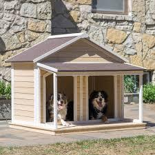 Boomer & George Duplex Dog House Antique White Wash