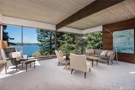 Windows To The Floor Ideas A Midcentury Modern Time Capsule On Mercer Island U0027s Waterfront