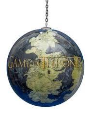 custom designed acrylic ornament of thrones winter