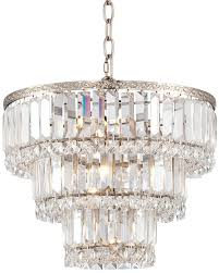 Chrome Crystal Chandelier by Magnificence Satin Nickel 14 1 4